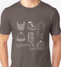 Lumberjack Things T-shirt (White on dark color) T-Shirt