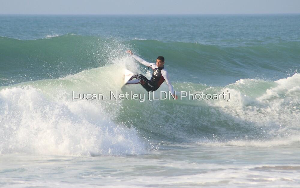 Fistral Surfers v by Lucan  Netley (LDN Photoart)