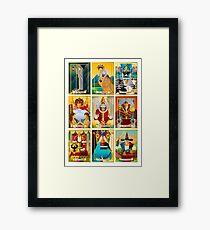 tarot major arcana cards Framed Print