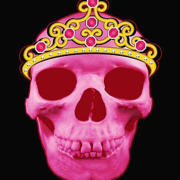 Pink Princess Skull Wearing Tiara by RiffXS
