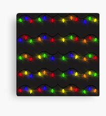 Twinkling Christmas Lights Canvas Print