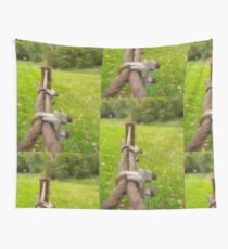 Wire Fence Wall Tapestry