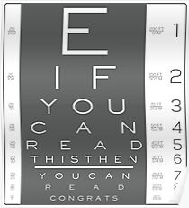 LITERACY TEST Poster