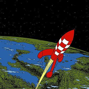 Tintin rocket Phone case by bernys