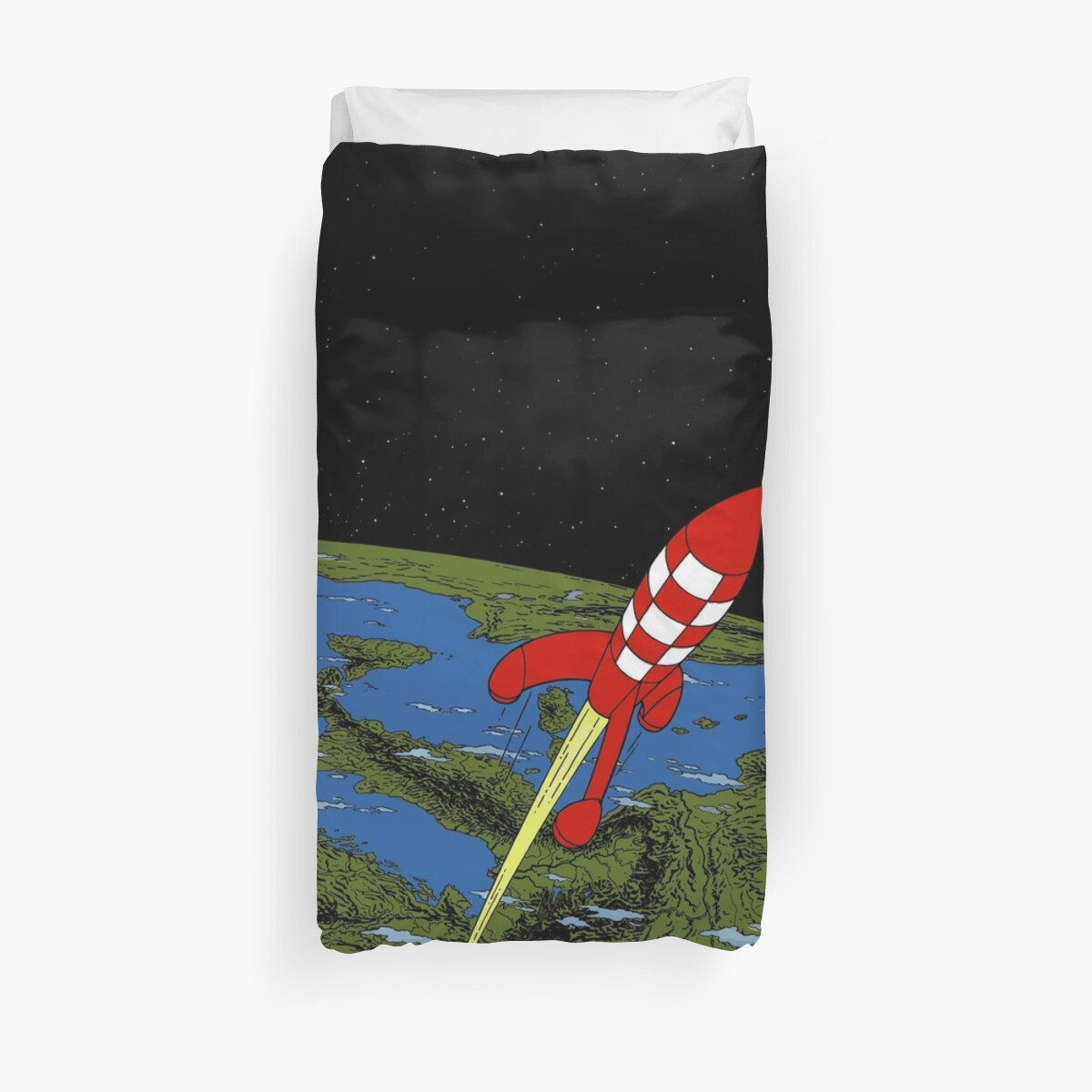 Tintin rocket Phone case Duvet Cover