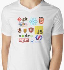 Javascript Stickers, Mugs, T-shirts and Phone cases Men's V-Neck T-Shirt