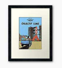 Tintin Objectif Lune Poster Framed Print