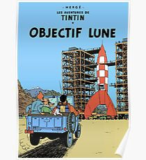 Tintin Objectif Lune Poster Poster