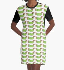Weiner dog Graphic T-Shirt Dress