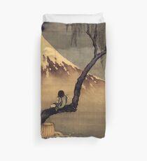 katsushika hokusai framed print poster Duvet Cover