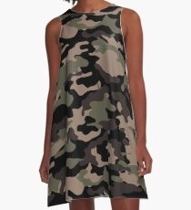 Camouflage A-Line Dress