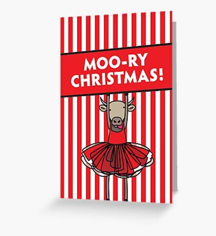 Moo-ry Christmas Greeting Card