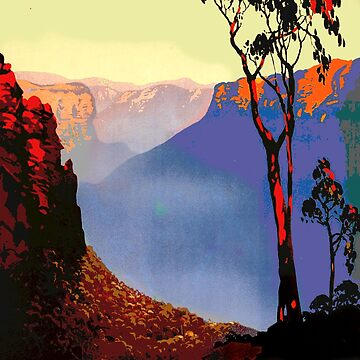 Landscape XV Australia Blue Mountains by philbotic