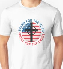 I Stand For The Flag And Kneel For The Cross Anthem T-Shirt Unisex T-Shirt