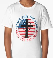 I Stand For The Flag And Kneel For The Cross Anthem T-Shirt Long T-Shirt