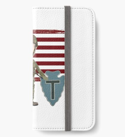 Proud Veteran- 36th ID iPhone Wallet