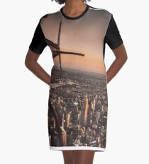 flying in new york city Graphic T-Shirt Dress