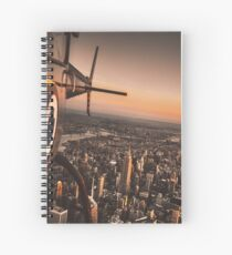 flying in new york city Spiral Notebook