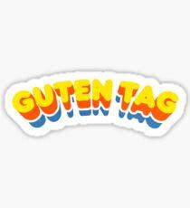 Guten Tag | Retro Curve Sticker