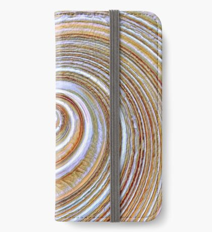 A close up of a cake on Fibonacci table iPhone Wallet