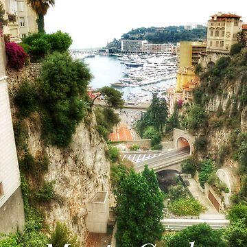 Monte Carlo Monaco Trees in cliffs by cutehuur