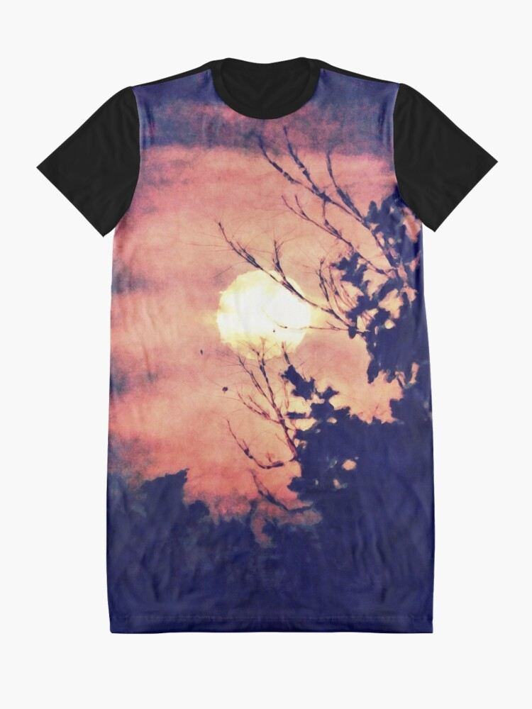 Alternate view of Full Moon Silhouette Graphic T-Shirt Dress