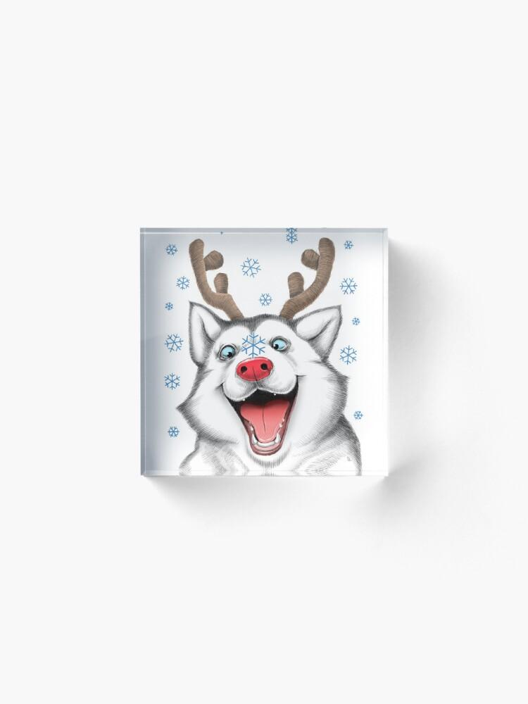 Alternate view of Husky Rudolph Acrylic Block