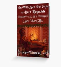 Critmas Burt Reynolds Greeting Card