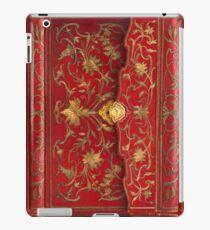 Red 'portefuille' Buchcover mit Goldfaden und Schloss, 1764 iPad-Hülle & Klebefolie