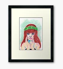 Pastel Girl Framed Print