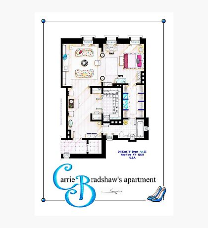 Carrie Bradshaws apartment as a Poster (Movie version) Photographic Print