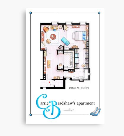 Carrie Bradshaws apartment as a Poster (TV version) Metal Print