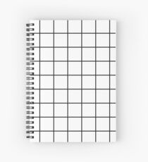 grid, black and white Spiral Notebook