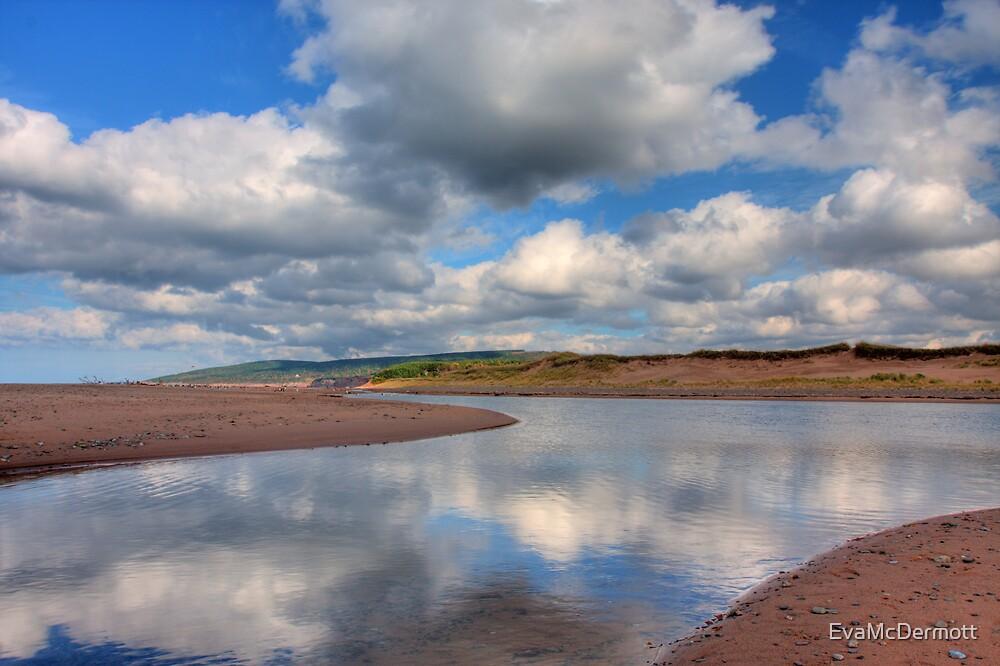 Reflections on Inverness Beach Nova Scotia by EvaMcDermott