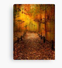 Autumn Silkscreen Canvas Print