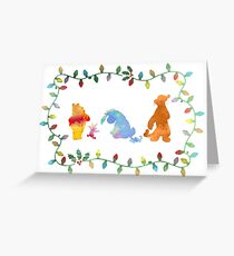 Christmas Friends Inspired Silhouette Greeting Card