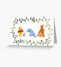 Weihnachtsfreunde inspirierte Silhouette Grußkarte