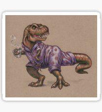 Tyrannosaurus Rex in Cat Jammies Sticker