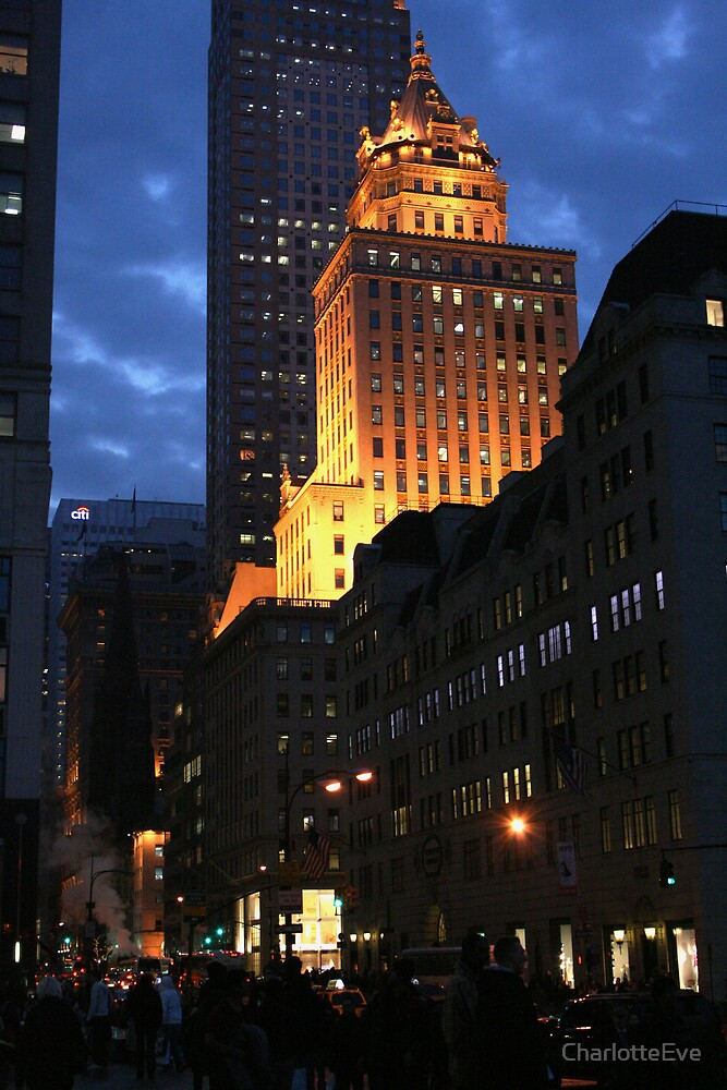 New York At Night by CharlotteEve