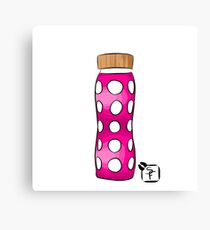 Pink Water Bottle Canvas Print