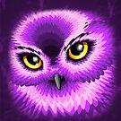 Pink Owl Eyes by BluedarkArt