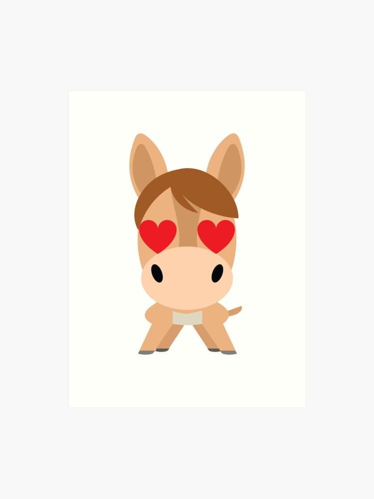 Donkey Emoji | Art Print