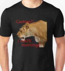 I hate mornings Unisex T-Shirt