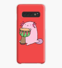 Axolotl Playing the Djembe Case/Skin for Samsung Galaxy