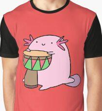 Axolotl Playing the Djembe Graphic T-Shirt