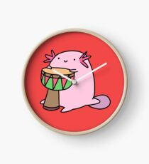 Axolotl Playing the Djembe Clock