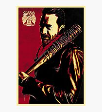 Negan Obey Photographic Print