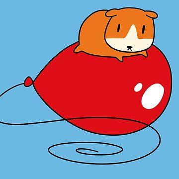 Roter Ballon und Meerschweinchen von SaradaBoru