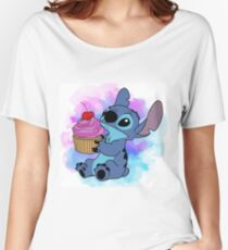 Stitch Cupcake Women's Relaxed Fit T-Shirt