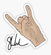 Signature hand Sticker